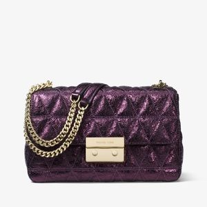 Michael Kors Quilted Metallic Sloan Shoulder Bag